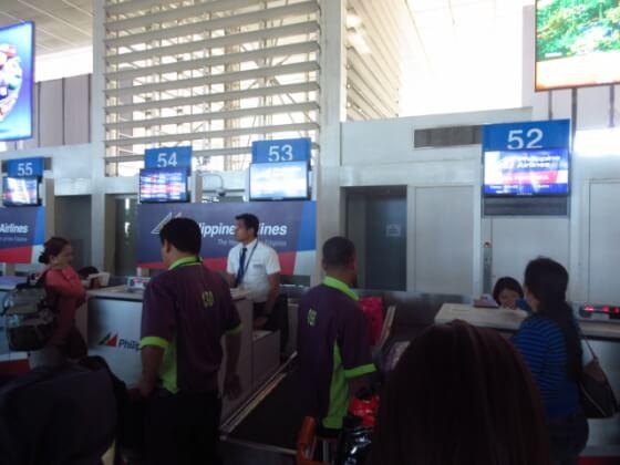 マニラ空港チェックイン