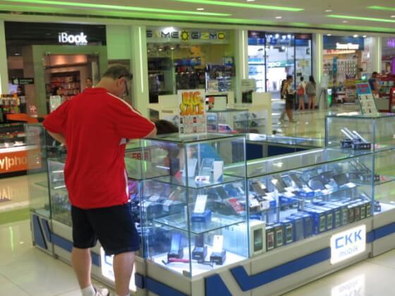 フィリピンの携帯売り場