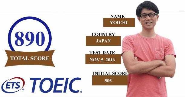 留学生のTOEIC成果