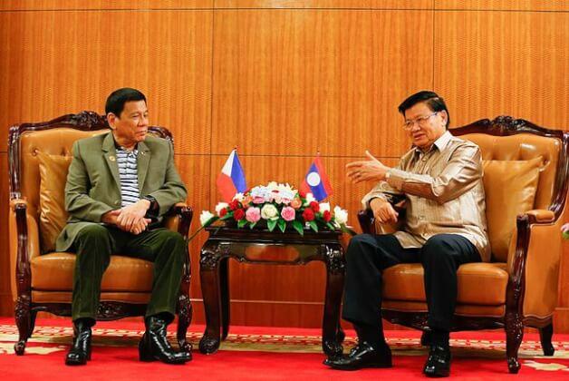 外交を行うフィリピン大統領