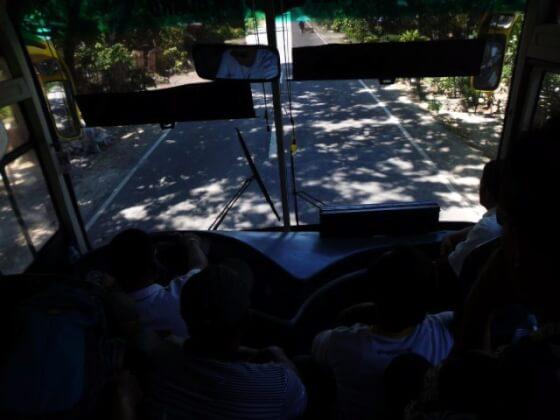 オスロブへのバス