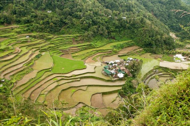 フィリピン観光地のバナウェイ
