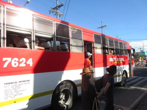 タガイタイ行きのバス