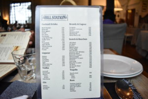Hill Station Menu