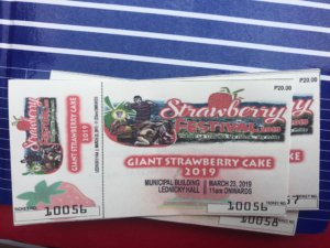 giant strawberry cake ticket
