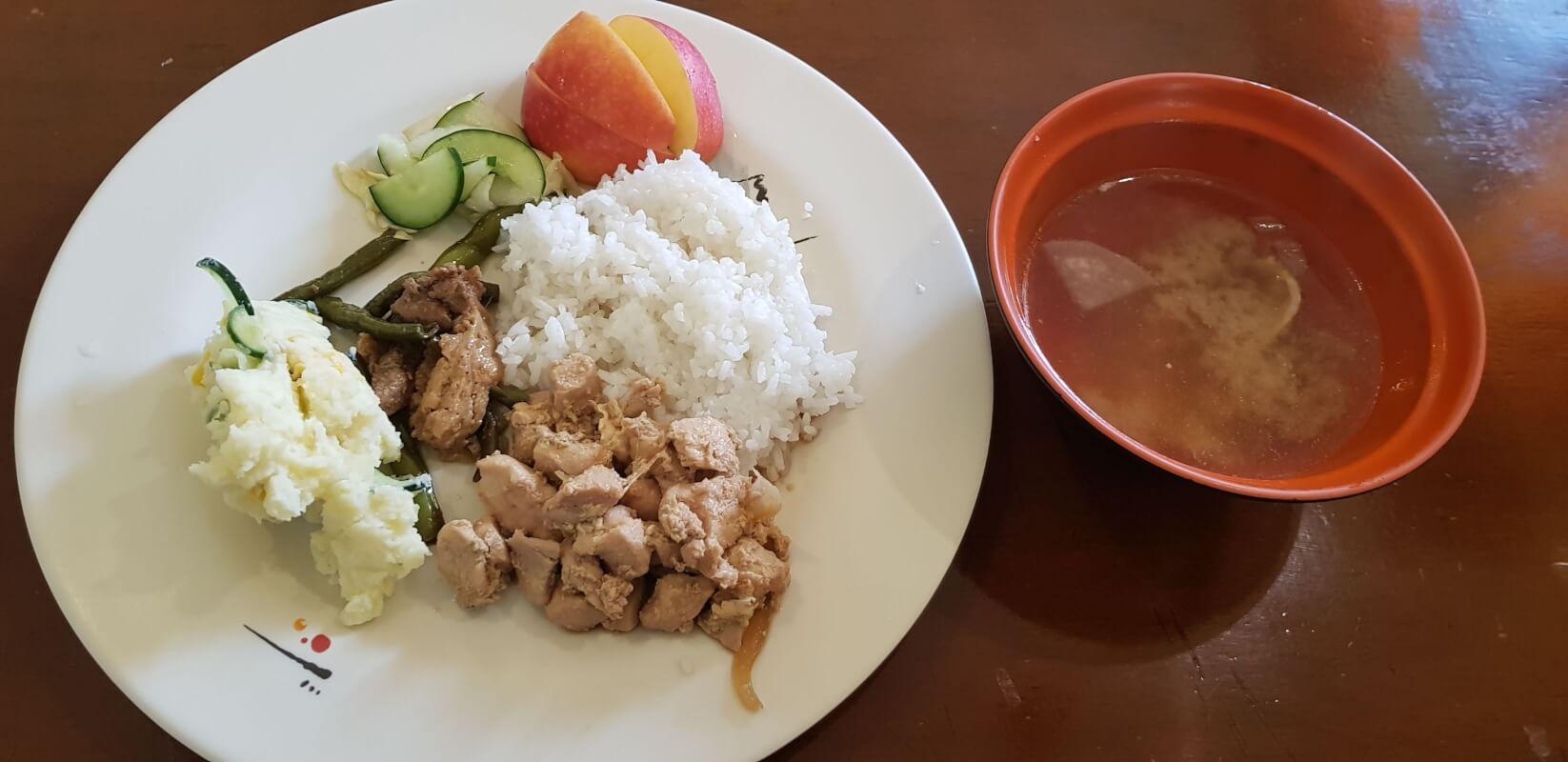 日本人比率15%の韓国系語学学校の食事