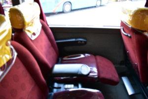 ビクトリーライナーバス内充電チェック