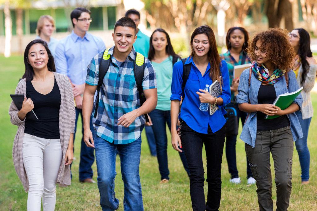 多国籍の生徒